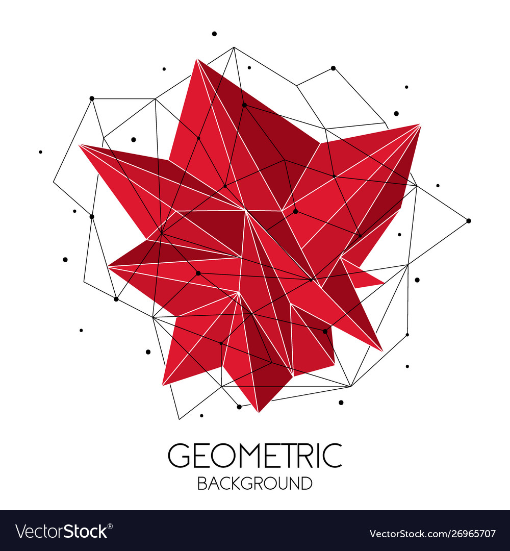 Polygonal red abstract futuristic template low