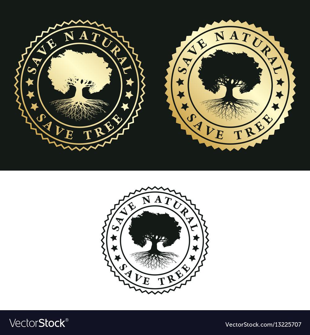 Save natural - save tree vector image