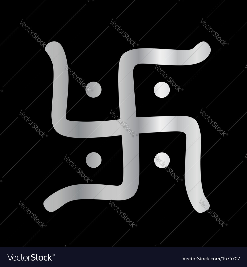 Swastika Symbol Of Jainism Religion Royalty Free Vector
