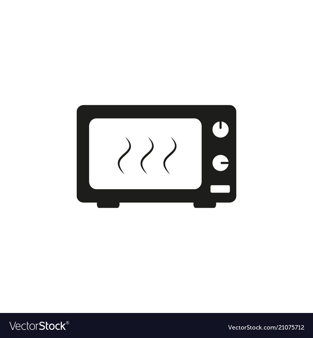 A microwave black icon