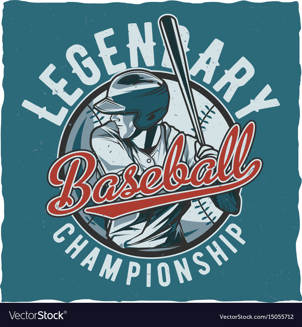 Baseball t-shirt label design