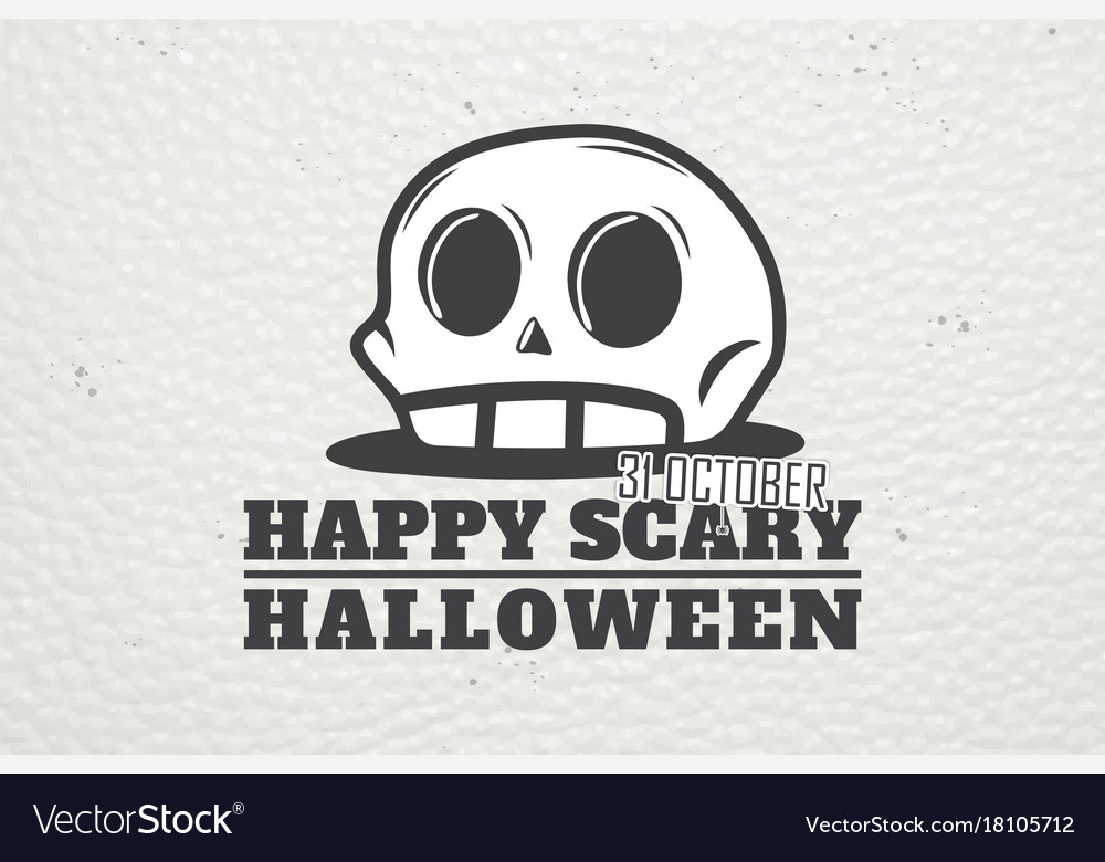 Happy halloween invitation to a party of