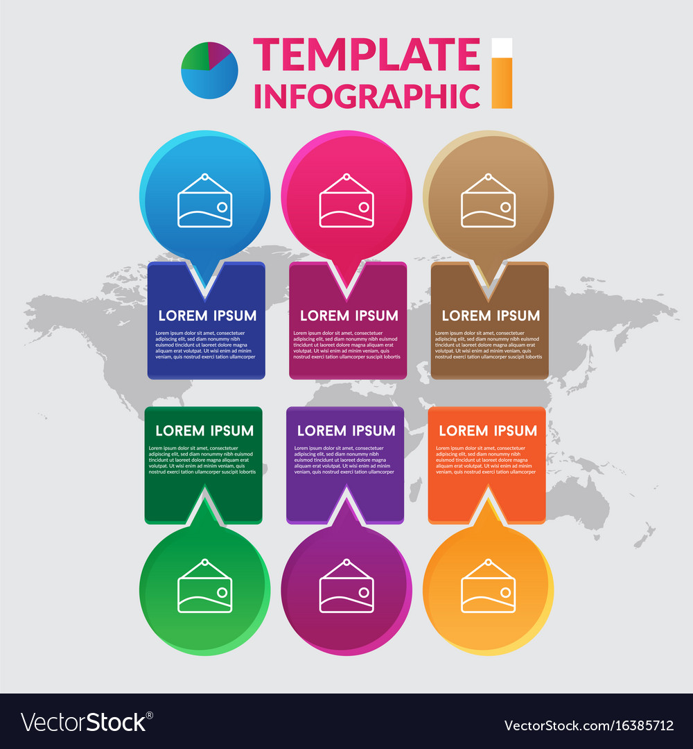 Infographic design stock infographic template