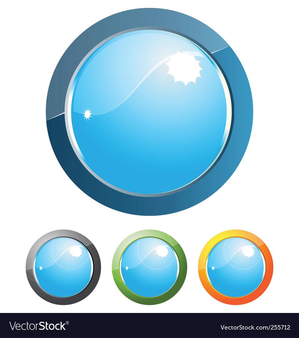 Internet button design vector image