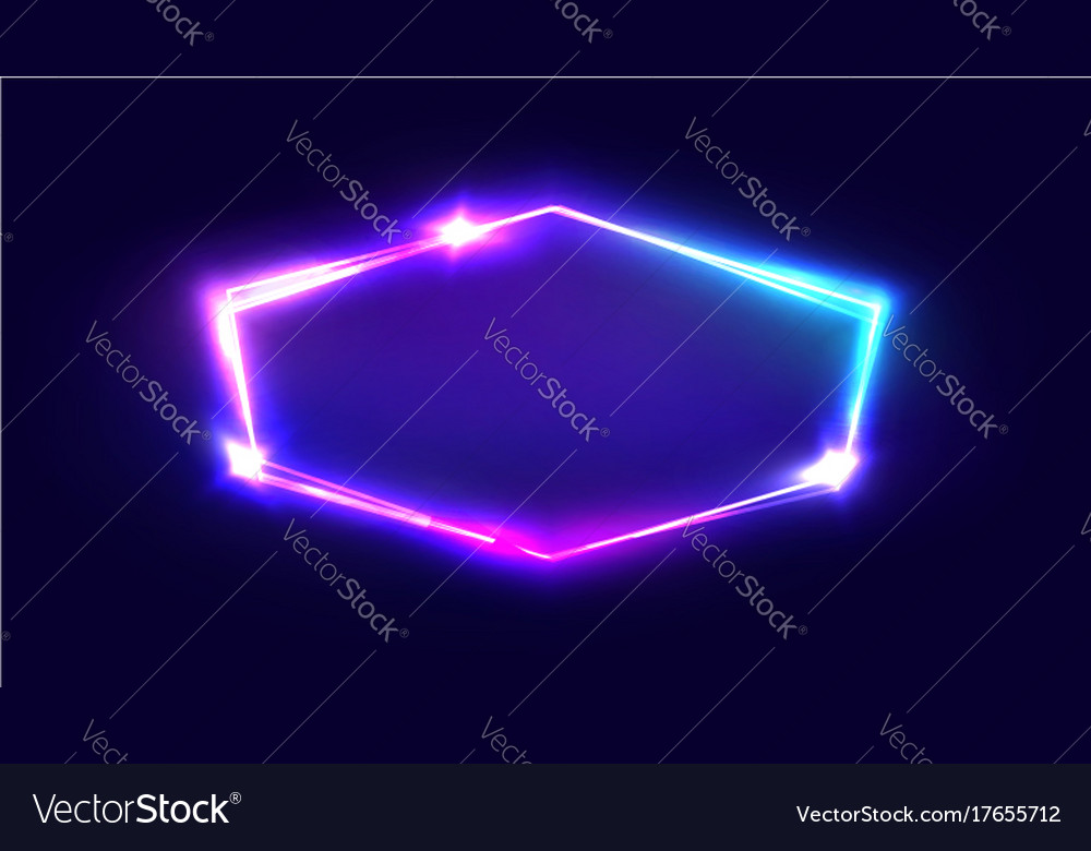 Night club neon sign blank retro light signboard vector image
