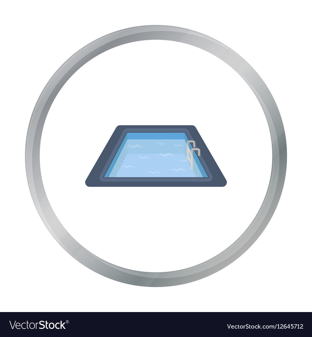 Swimming pool icon in cartoon style isolated on vector image