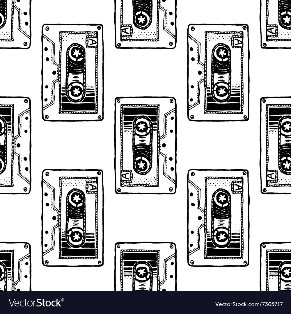 Audio Cassette Art for t-shirt design vector image