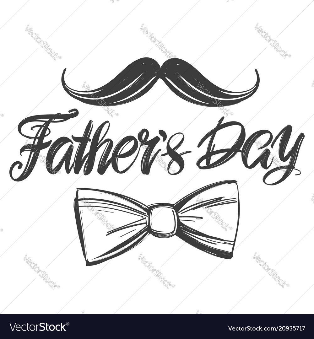 Fathers day family celebration calligraphic text