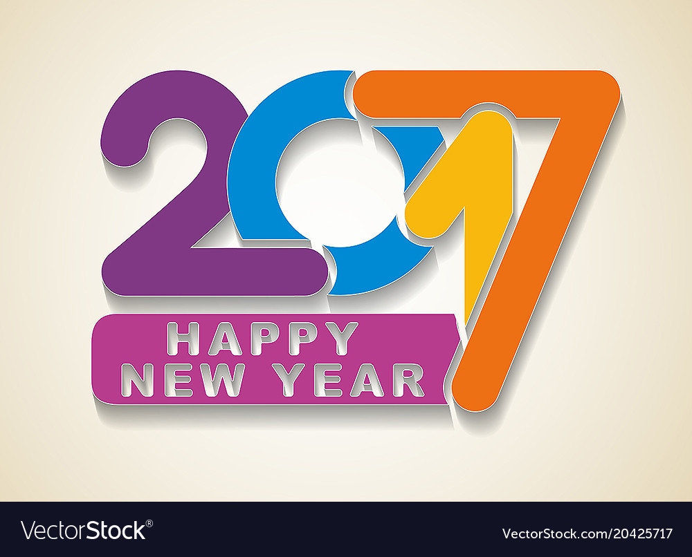 Happy new year colorful holidays card with