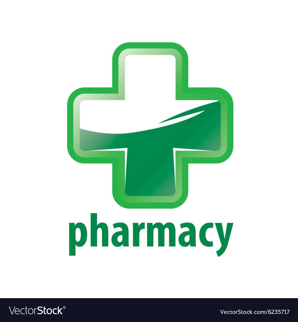 Logo Green Cross Pharmacy vector image