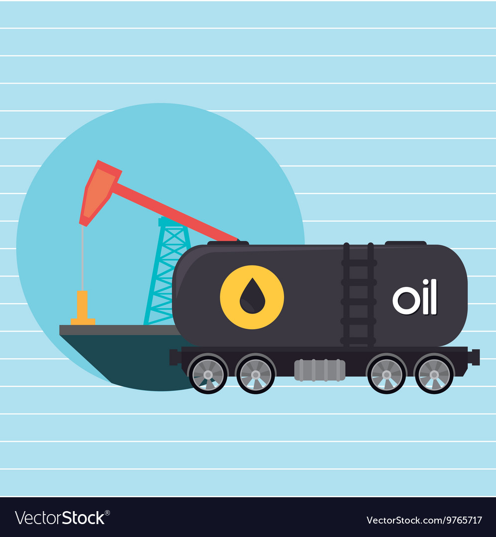 Oil truck isolated icon design