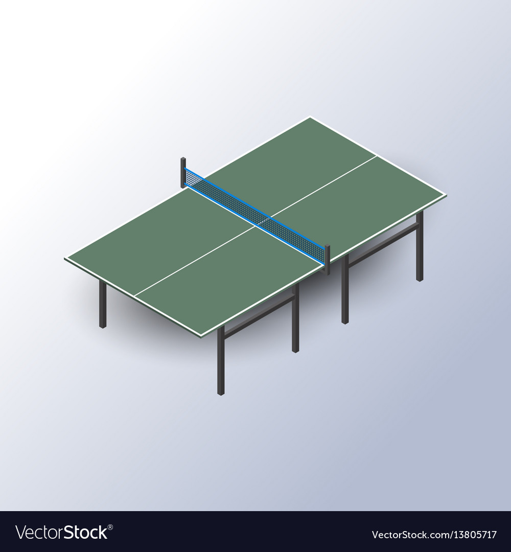 Ping pong table is an isometric