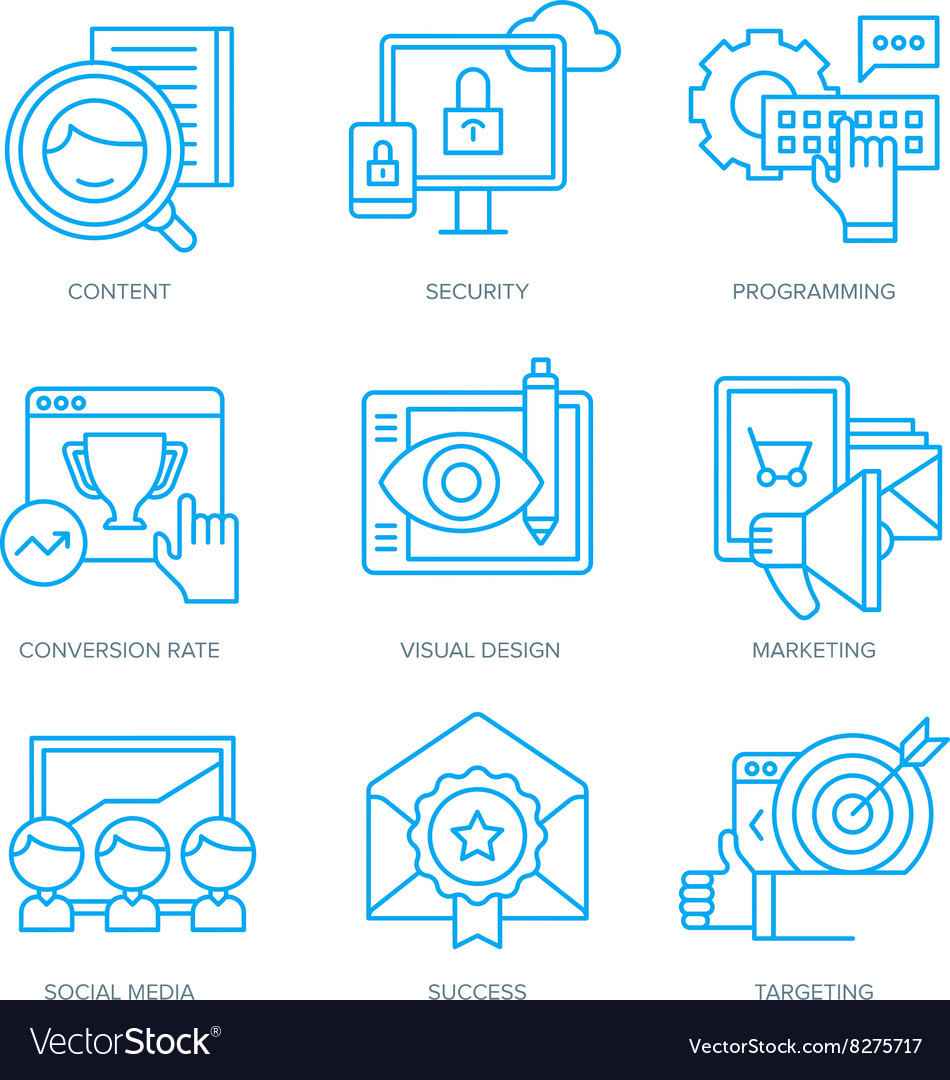SEO and Digital Marketing Icons