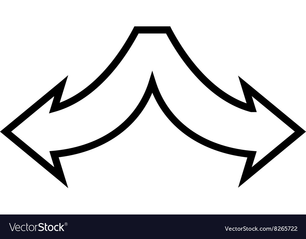 Choice Arrows Left Right Outline Icon