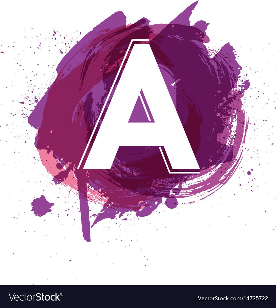 Creative letter a logo design template vector image