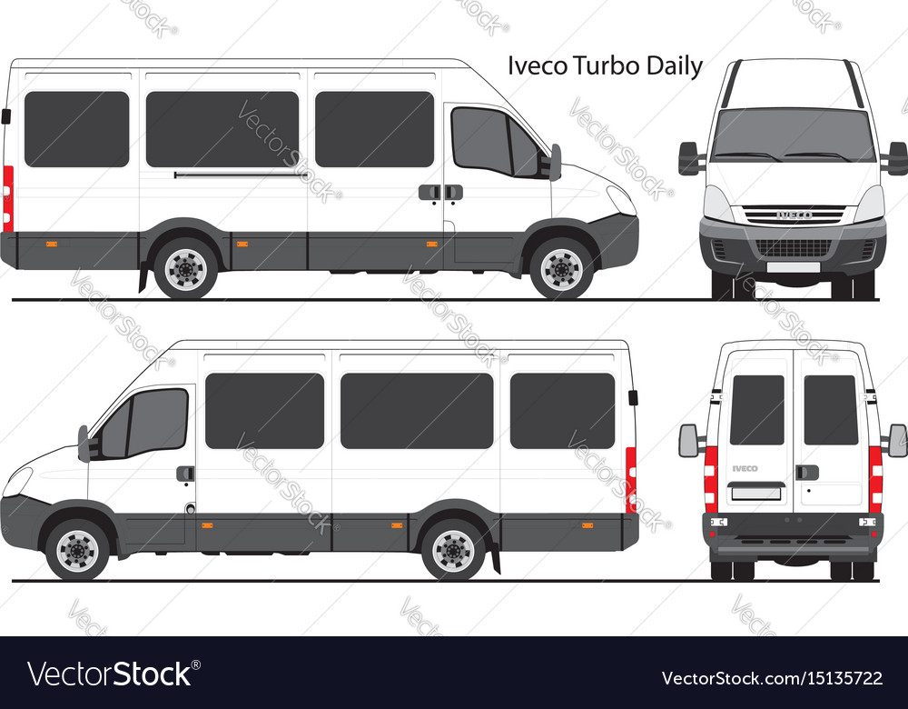 Nowość Iveco turbo daily passenger bus Royalty Free Vector Image ZB26