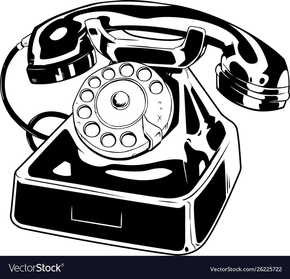 Old phone line art