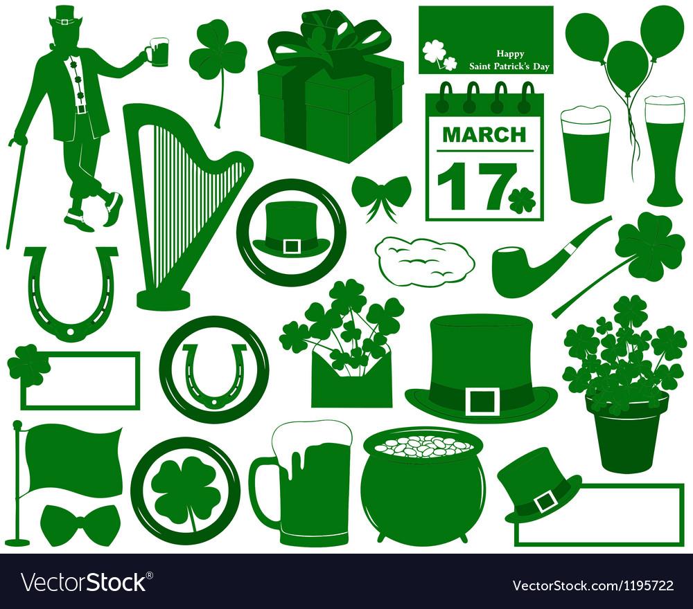 Saint Patrick s Day Elements vector image