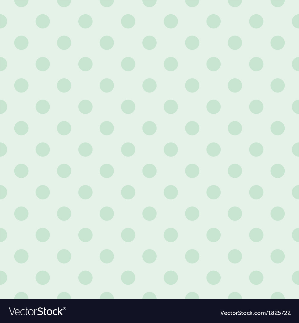 Seamless pattern with mint green polka dots vector image