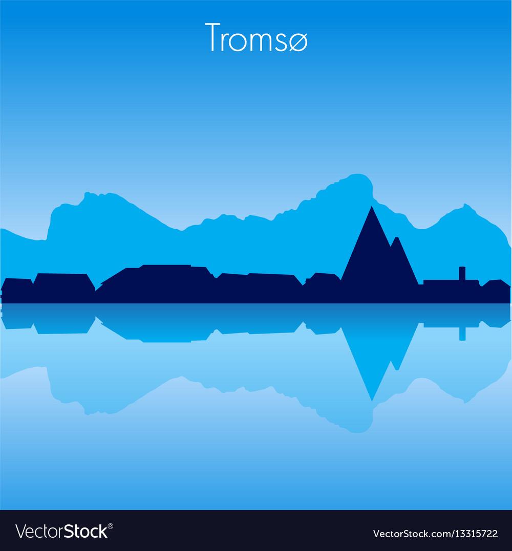 Tromso skyline vector image