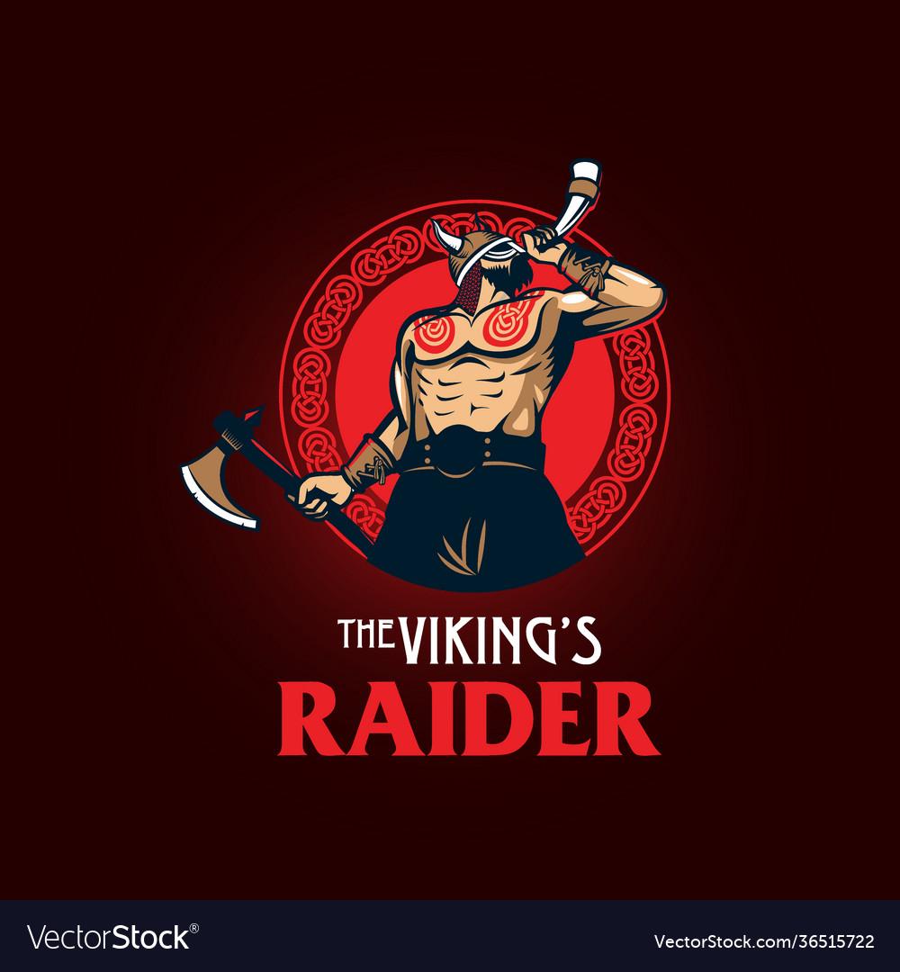 Viking raider esport style symbol