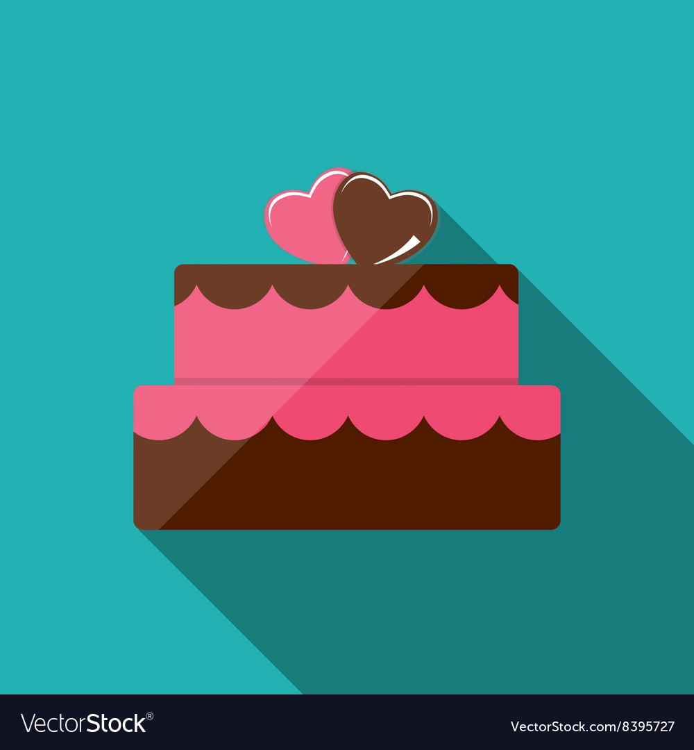 Birthday Cake Flat Icon For Your Design Royalty Free Vector