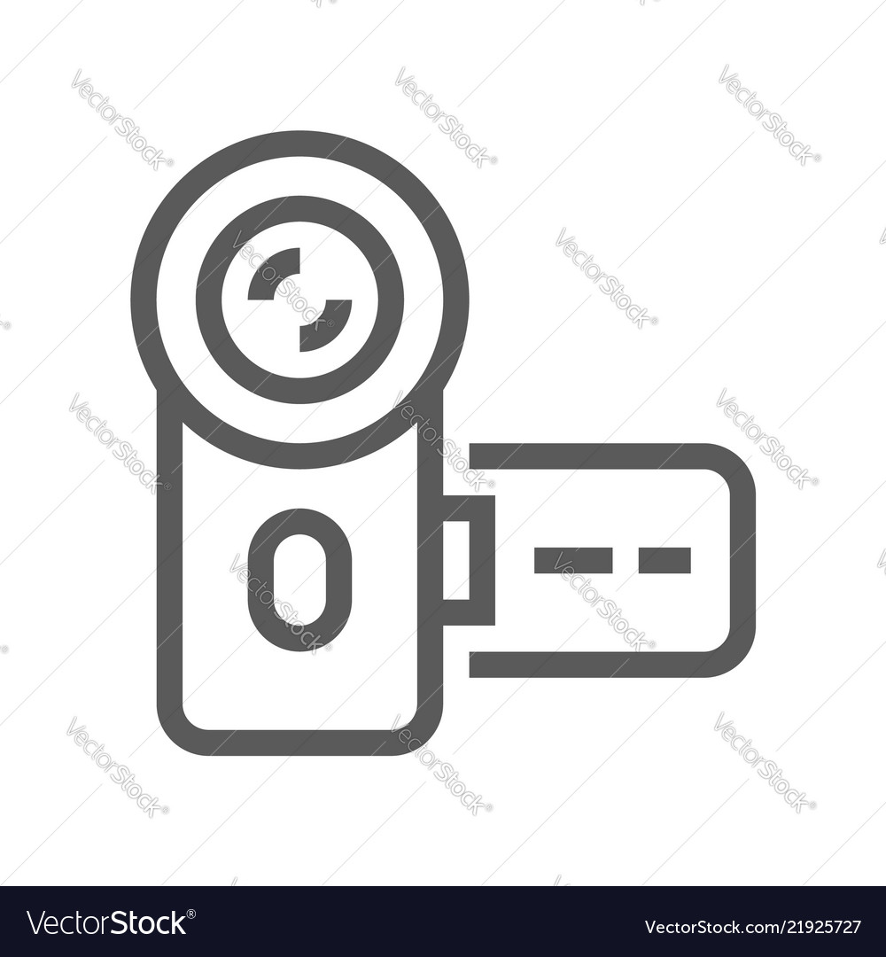Electronic devices line icon