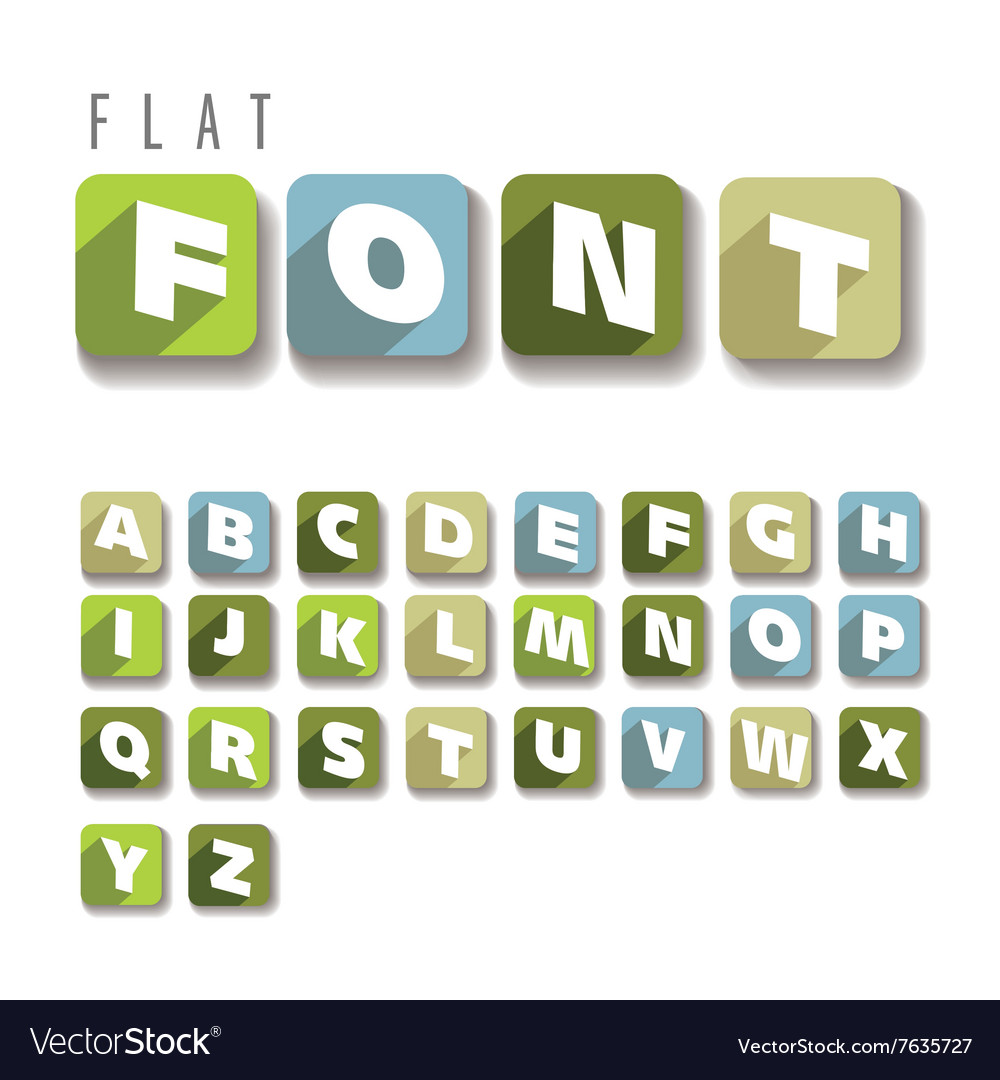 Flat colorful letters