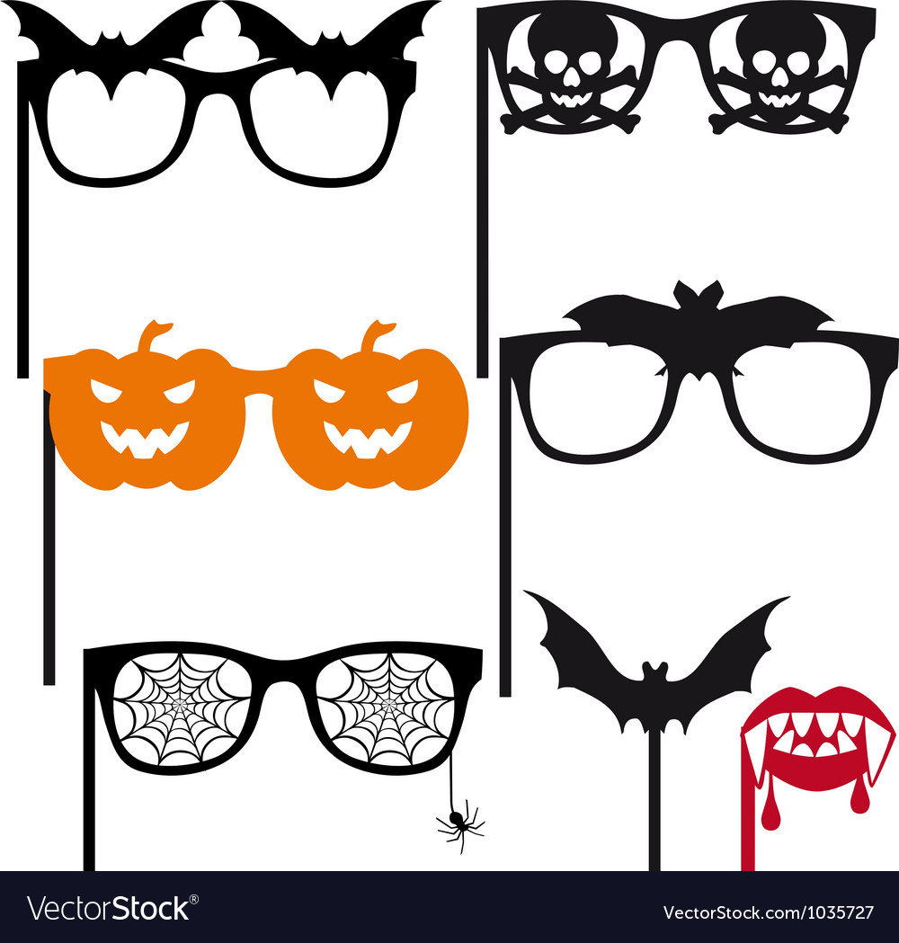 halloween booth props royalty free vector image