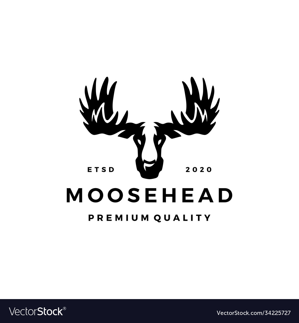Moose head logo icon