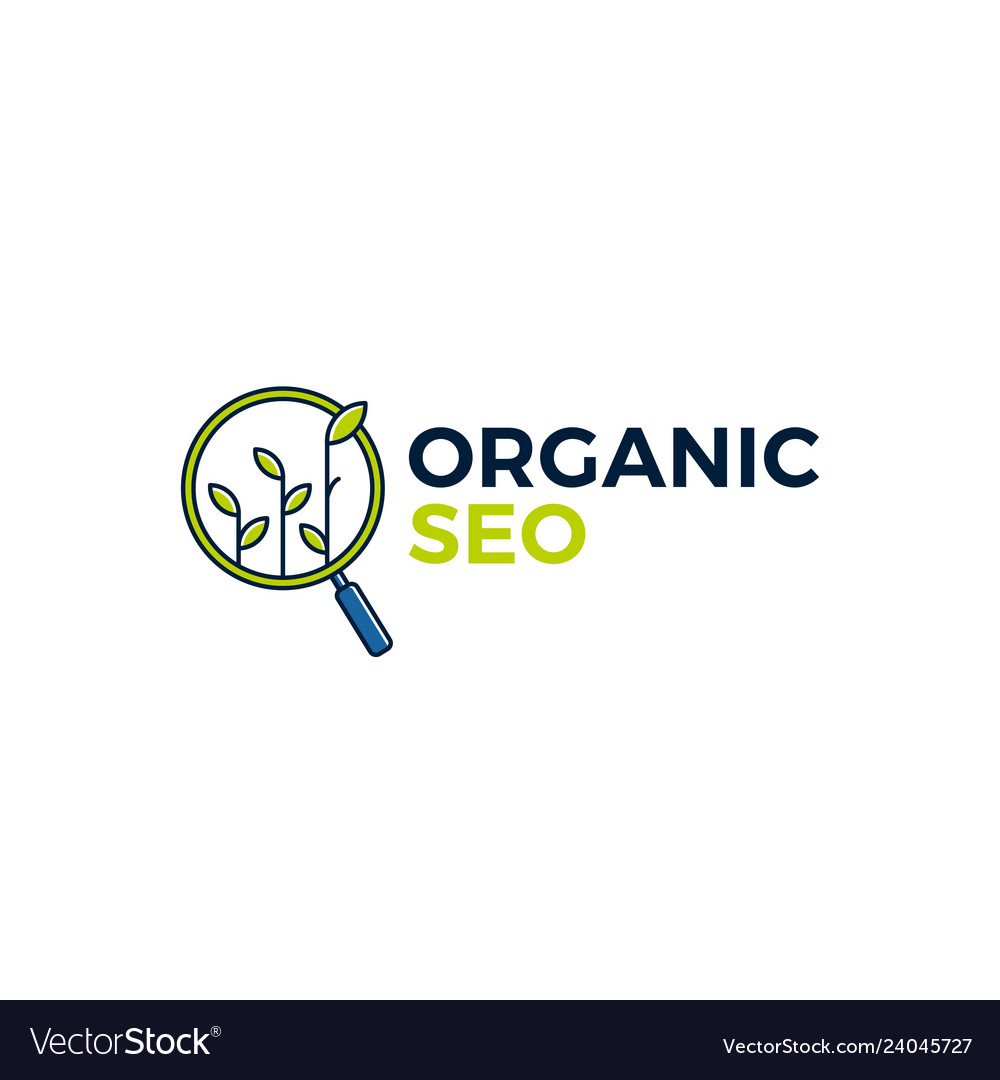 Organic seo sprout leaf search logo icon