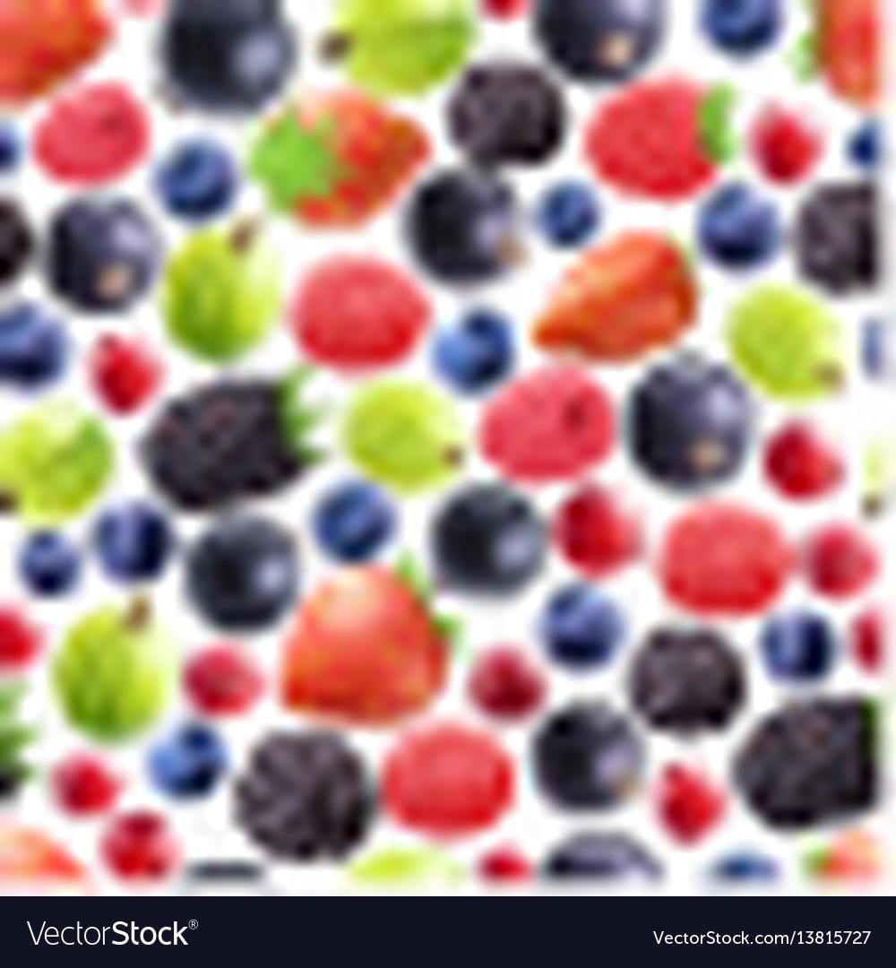 Realistic berries seamless pattern