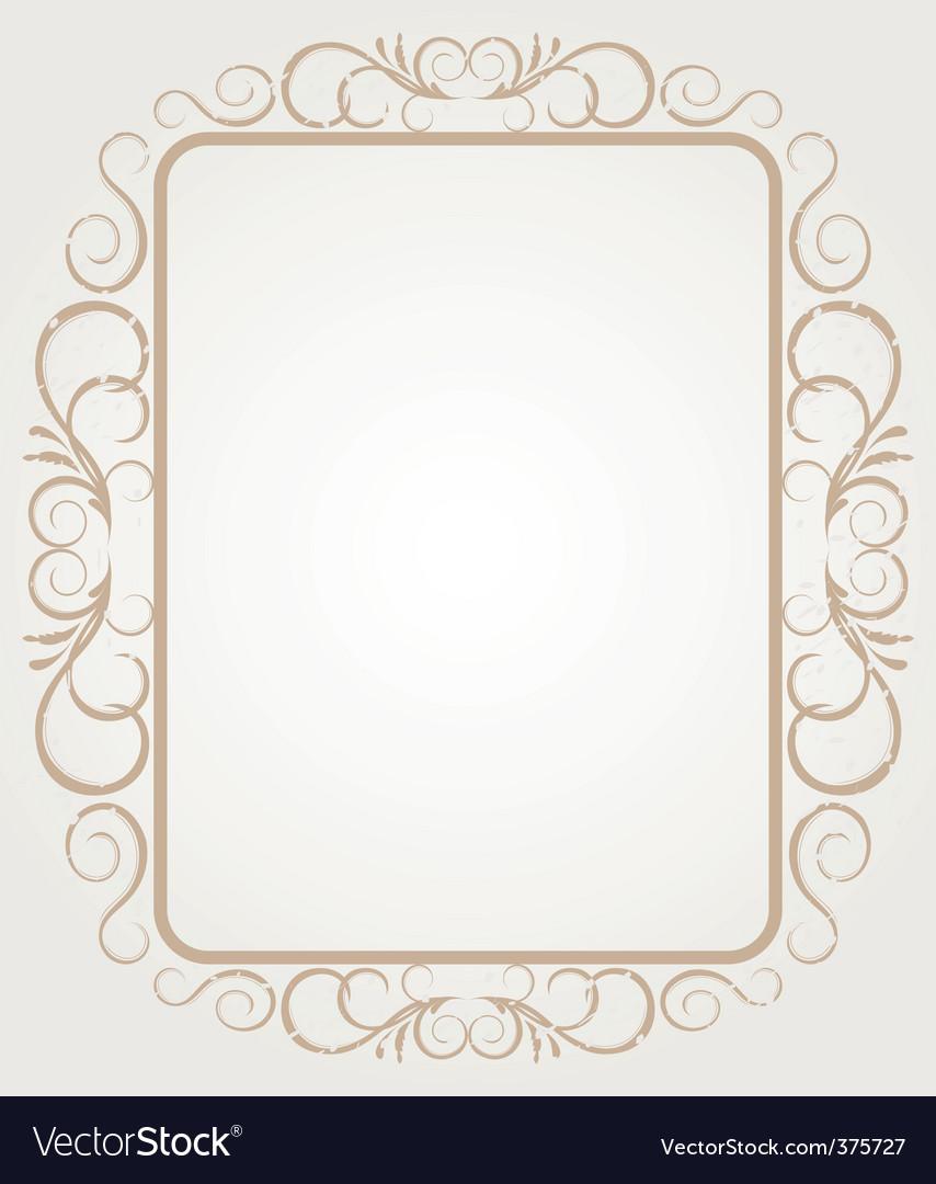 vintage frame border design. Simple Vintage Vintage Frame Border Design Vector Image Throughout Frame Border Design