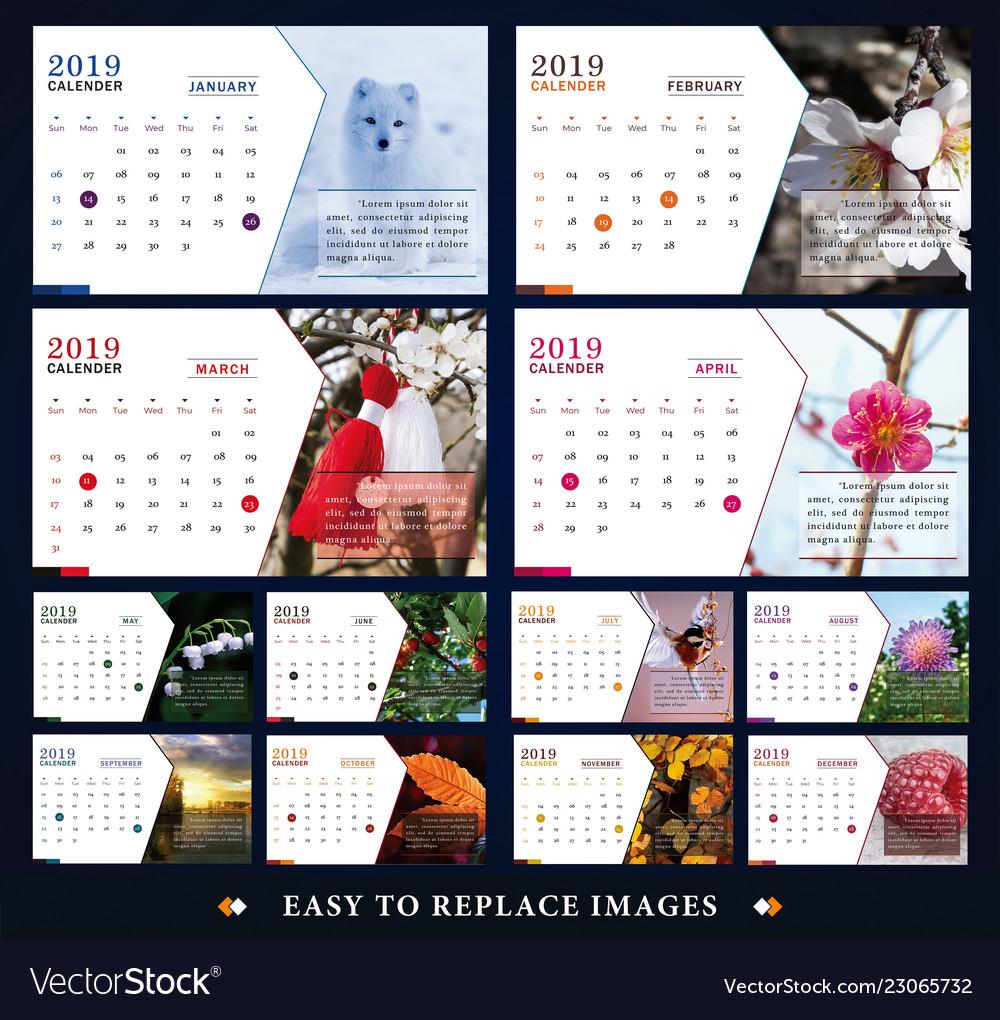Calendar for 2019 year