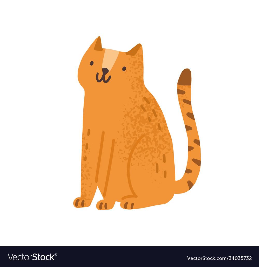 Childish cute cat in simple scandinavian