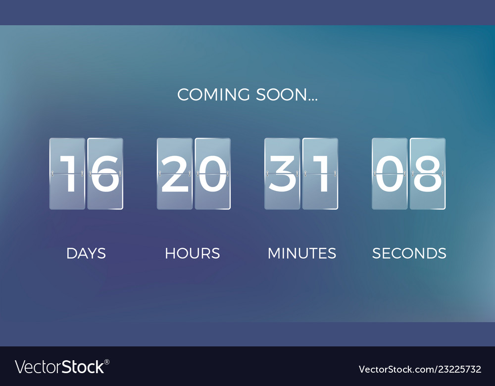 Countdown clock coming soon time remaining count