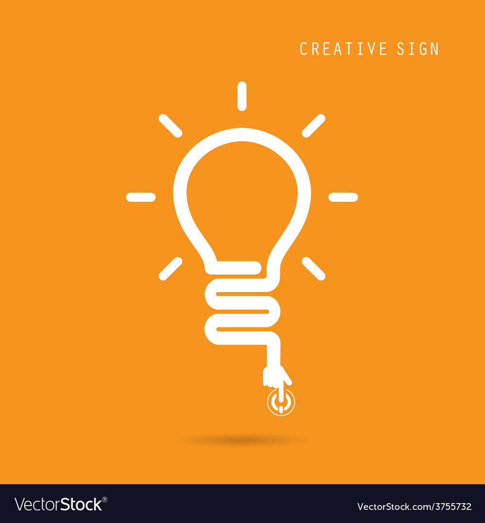 Creative light bulb concept vector image