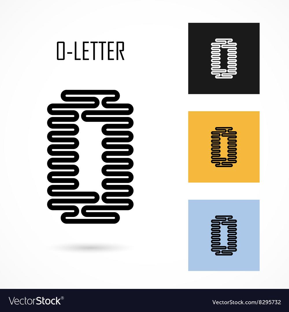 Creative O - letter icon abstract logo design