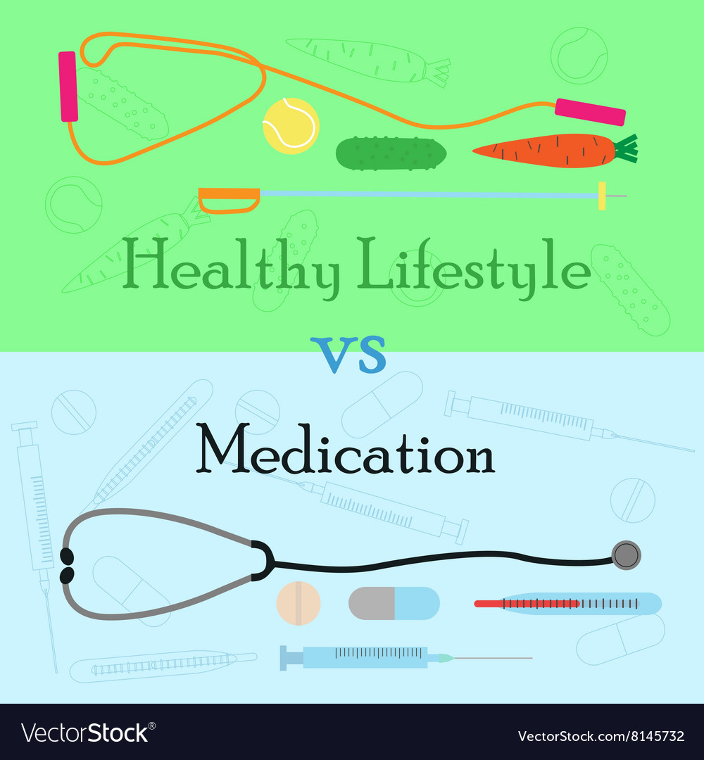 Healthy lifestyle vs medication