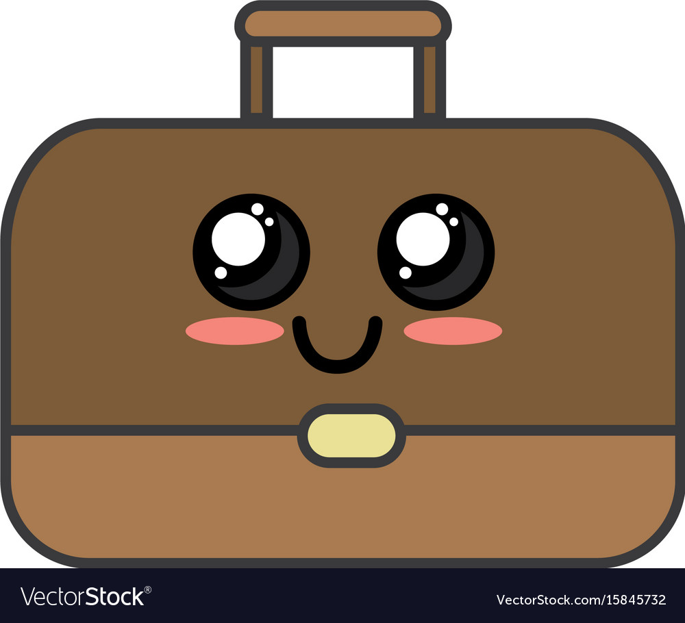 a0acd92cfe8f Kawaii cute happy briefcase icon