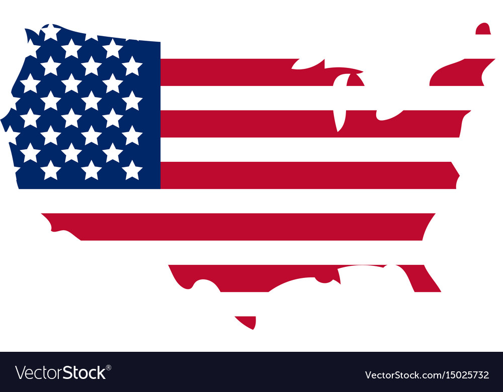 Map of america icon flat style isolated on white
