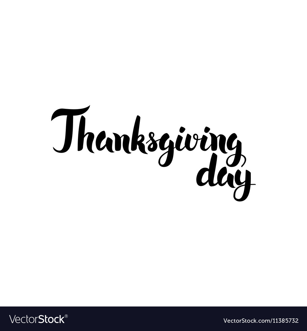 Thanksgiving Day Handwritten Lettering