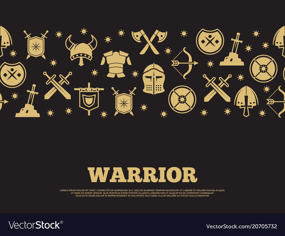 Vintage warrior background with mediewal knights