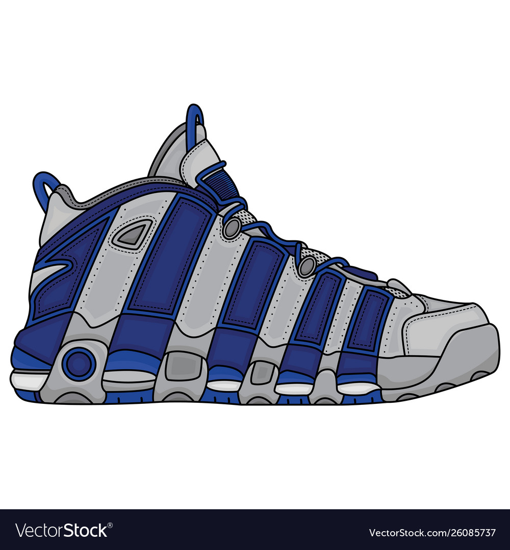 Basketball shoes design Royalty Free