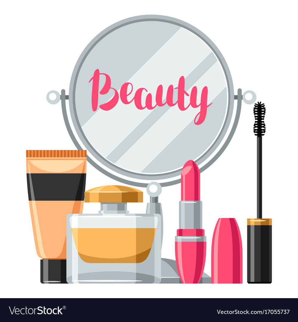 Skincare And Makeup Background Vector Image