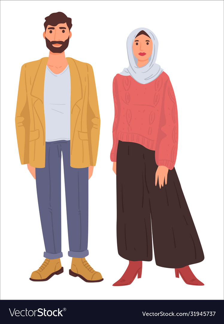 Husband and wife wearing traditional clothes