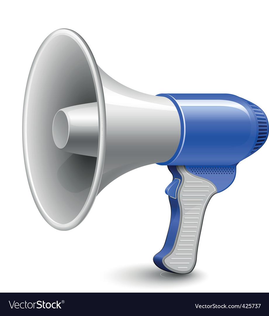 megaphone loudspeaker royalty free vector image vectorstock