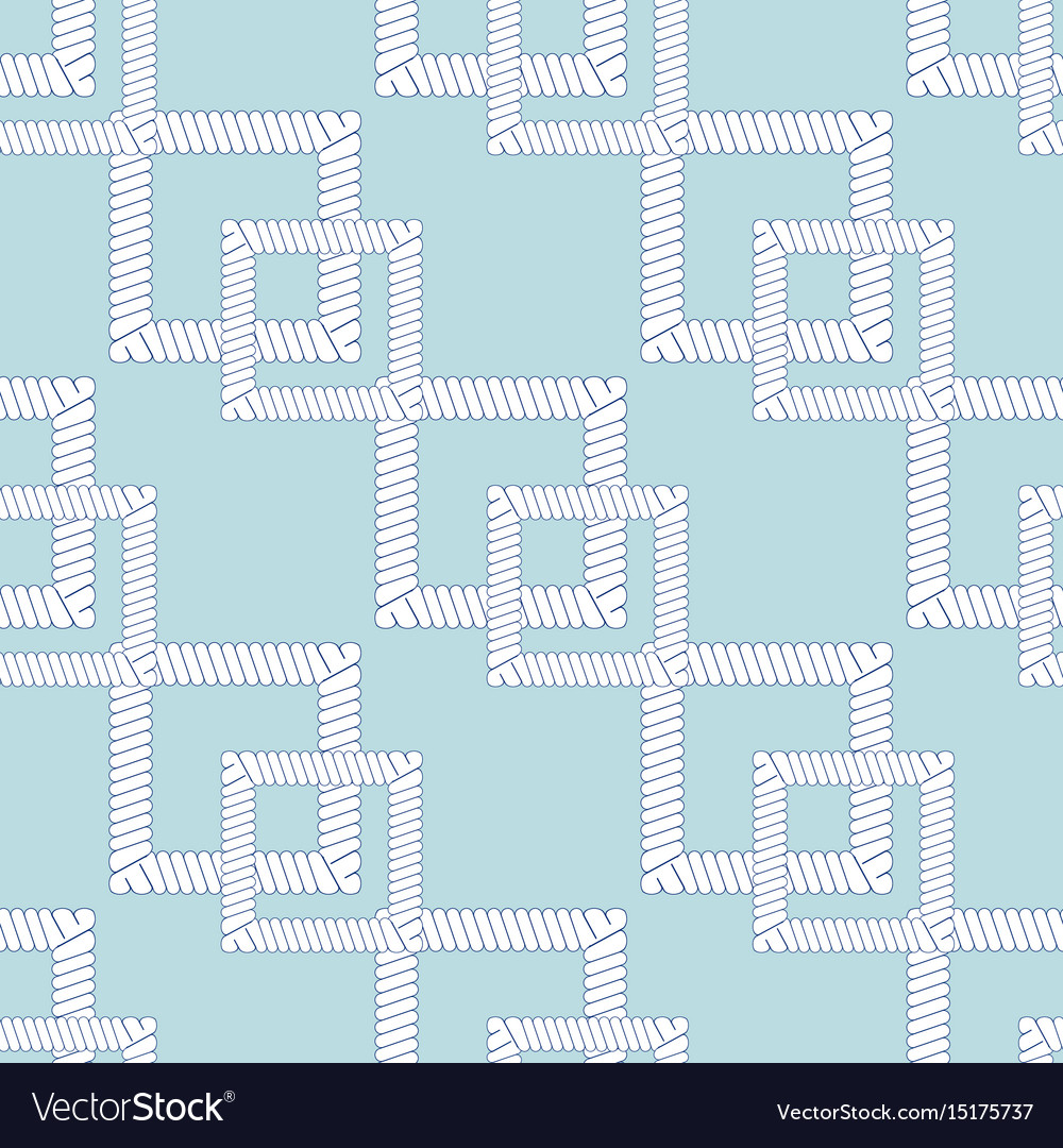 Rope knots marine cord cable seamless pattern