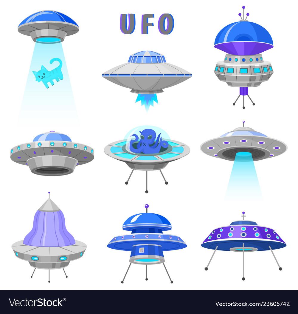 Alien spaceships set ufo unidentified flying