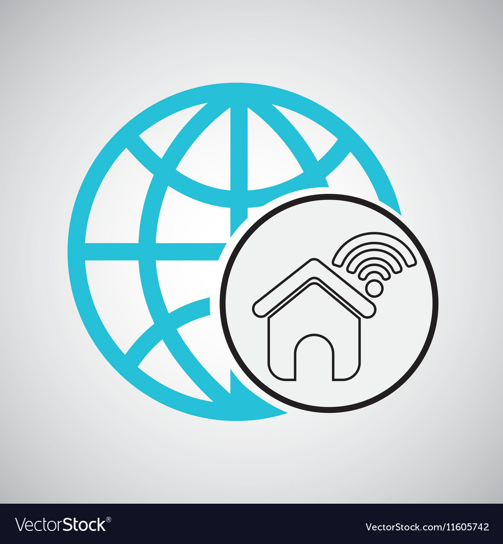 Connection concetp globe home wifi